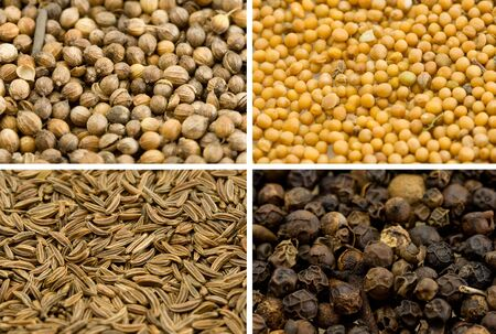 Various spices, background Stock Photo