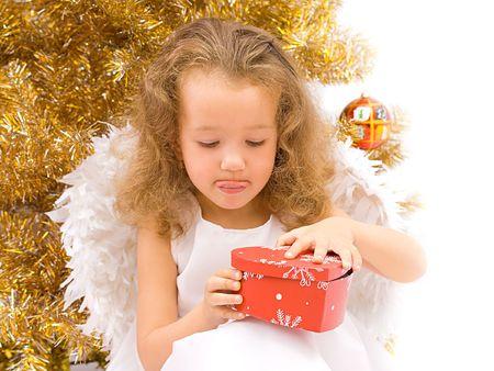 Curious christmas angel