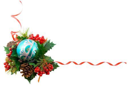 Christmas frame, isolated