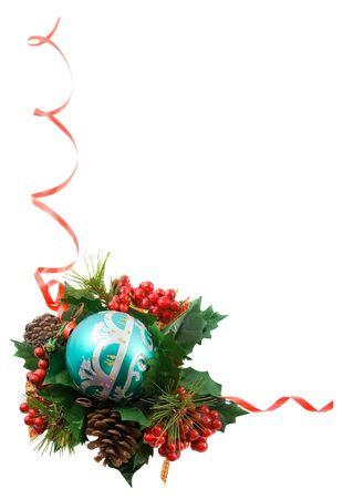 Christmas frame, isolated photo