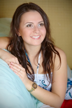 Brunettes portrait Stock Photo