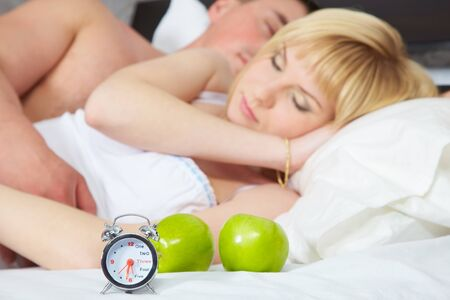 Young amorous couple at the morning  Stock Photo