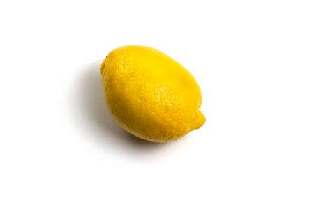 Lemon isolated on white background. Healthy product. Citrus, Yellow ripe lemon 免版税图像