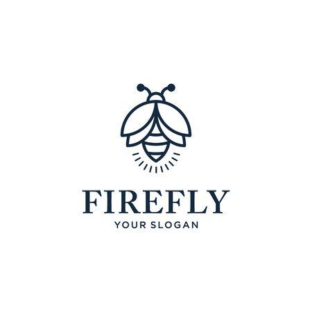 inspiración para el diseño del logotipo de luciérnaga