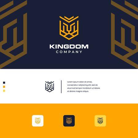 kingdom lion design simple monogram style