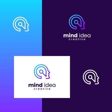 Inspiration logo design for mind, brain, people, ideas, innovative