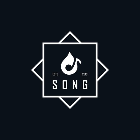Inspiring logo designs negative space tones  イラスト・ベクター素材