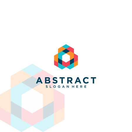 full color abstract polygon design