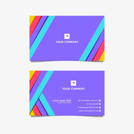 business card innovation full color  design vector