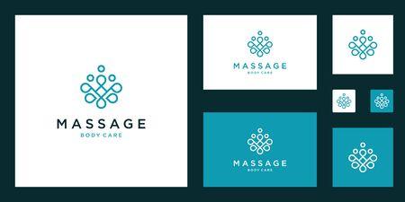 Simple and elegant floral monogram design template, elegant line art design, vector illustration