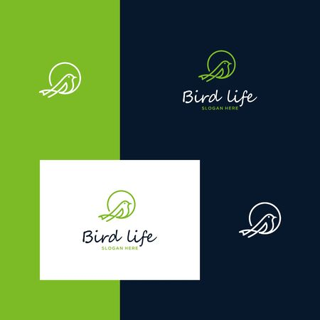 Inspiring bird designs with simple outline styles