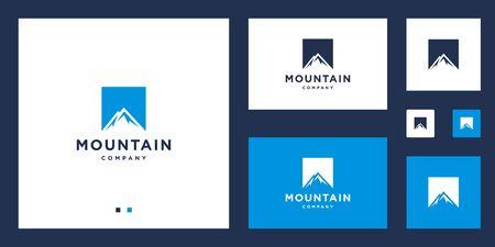 mountain scenery design vector