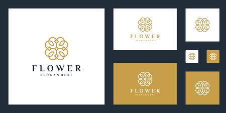 Minimalist elegant Flower  design with line art style