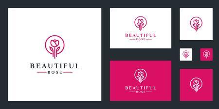 Rose flower  design inspiration simple lines