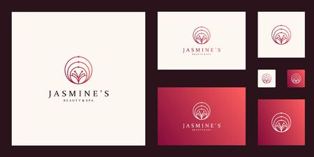 Clean and elegant abstract butterfly inspiring beauty, yoga and spa design logos. Stock Illustratie