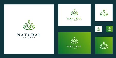 natural and elegant abstract flowers inspiring beauty, yoga and spa design logos.