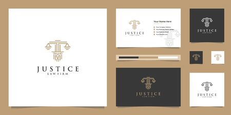 Symbol of the Law of Premium Justice. Law Firm, Law Offices, Attorney services, Luxury design inspiration.