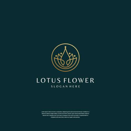 minimalist lotus flower logo design inspiration