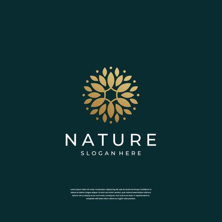 abstract luxury ornament flower logo design inspiration