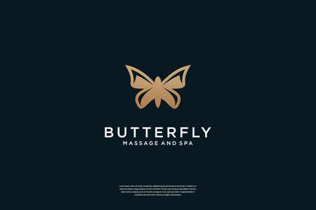 Luxury Butterfly logo design inspiration