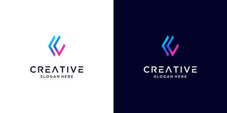 Abstract modern letter C logo design inspiration