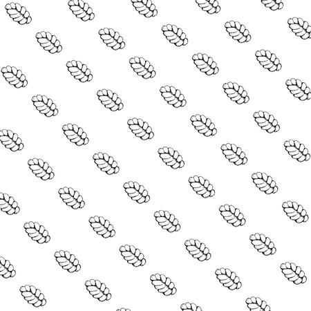 Black and white background of wicker pattern Ilustração
