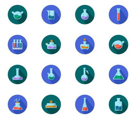 Laboratory Flasks Icon Set 向量圖像