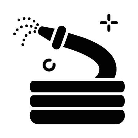 Lawn care and watering - glyph icon, lawn grass service, gardening and landscaping, isolated simple sing with tool for watering on white background, vector for web, app Ilustrace