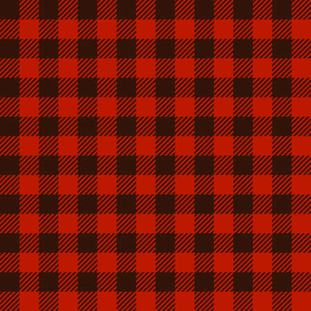 Buffalo plaid print seamless pattern, red and black Lumberjack print, plaid check pattern for textile texture, Hipster flannel manly shirt fabric ornament, checkered vector digital background