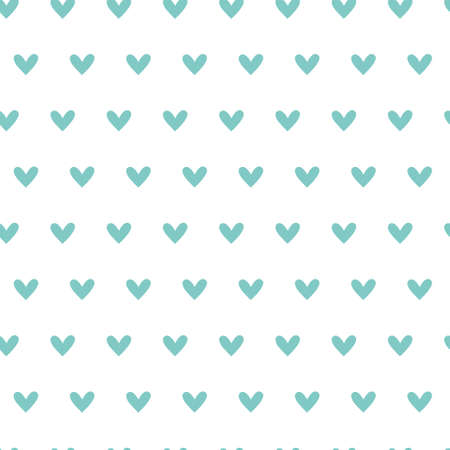 Valentine day seamless pattern - abstract valentine endless digital paper in peppermint color, simple background with hearts.