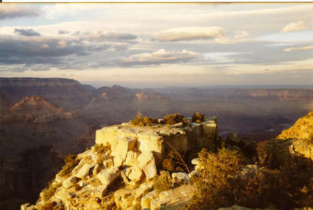 The Grand Canyon presenting in its best light at the evening photo