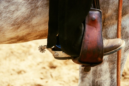 spurs: western spurs Stock Photo