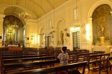 Church in Macau Stock Photo