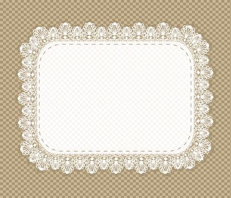 napkin: Lace napkin in retro style. Vector illustration.