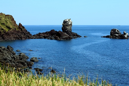 Jeju Island, Korea - Rock fomation photo
