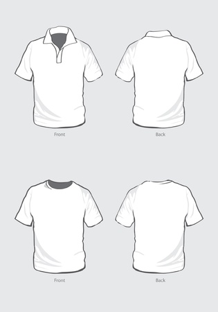 back view: T-Shirt & Polo shirt