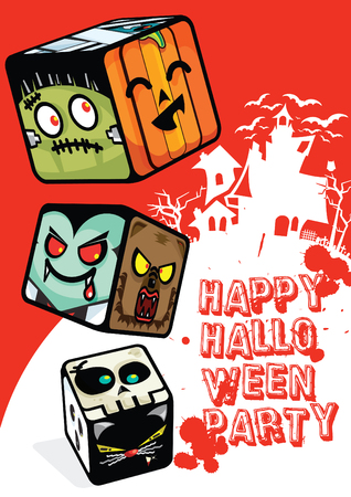 Happy-Halloween-Poster Illustration
