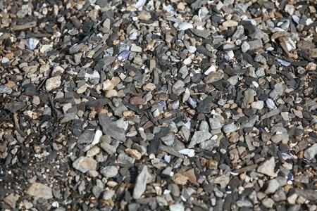 background made of a closeup of a pile of pebbles Banco de Imagens