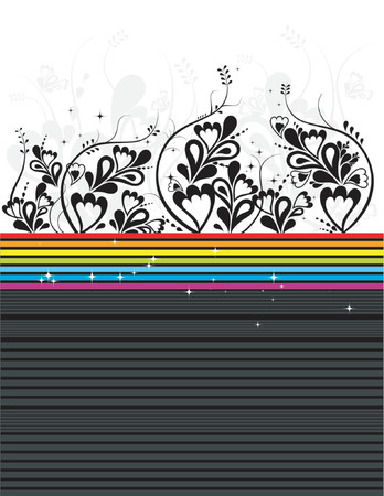 Modern vector black floral background Stock Vector - 866430