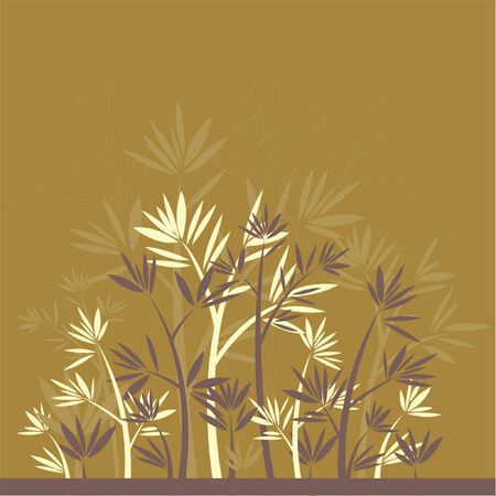 Background with many bamboo on brown background Stock Vector - 866425