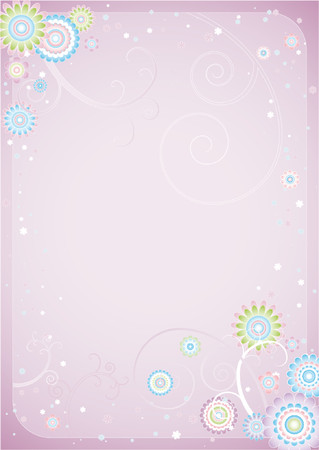 Background of  flowers Stock Vector - 866745