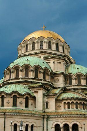 godliness: part of church Aleksander Nevski in Sofia, Bulgaria
