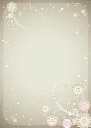 Vector background with many flowers