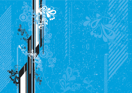 Grunge blue background with many  circles, vector illustration Stock Vector - 879709