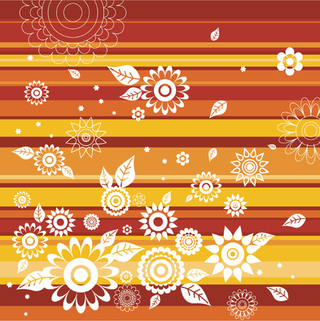 Background of  flowers,vector illustration Stock Vector - 879724