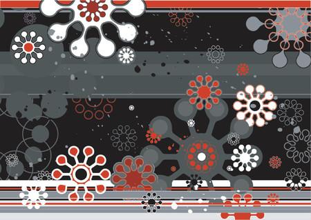 modern background with red and black shapes, vetor Illustration