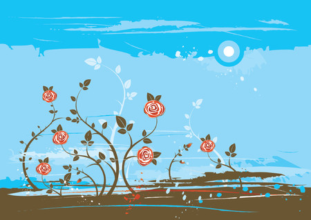 Background with many roses, vector illustration Stock Vector - 902802