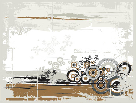 grunge background with many circles and shapes,vector illustration Illustration