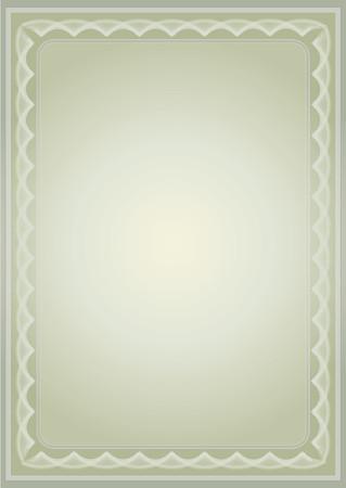deed: Certificado, ilustraci�n vectorial  Vectores