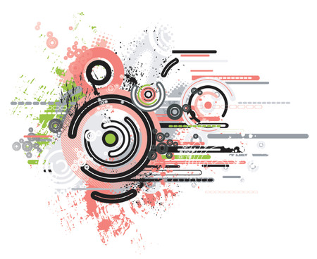 Vector background with many shapes Stock Vector - 921986